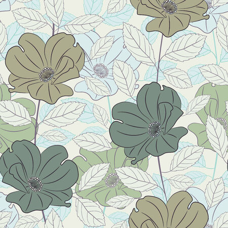 pastel colored roses in pattern Vector