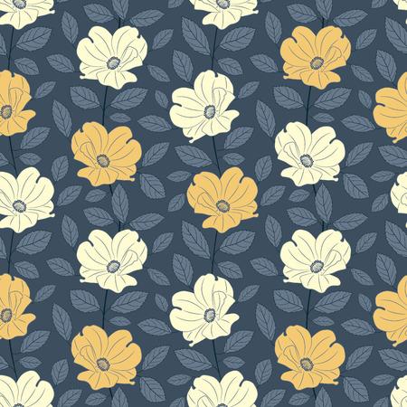 sepal: roses on dark background in floral pattern