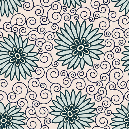 sparce: abstract flowers in floral pattern Illustration