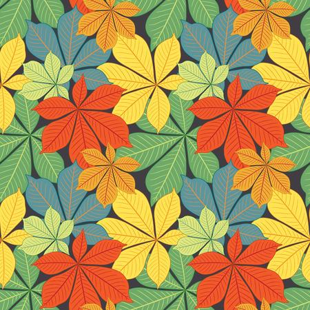 casta�as: oto�o casta�o s hojas en el patr�n