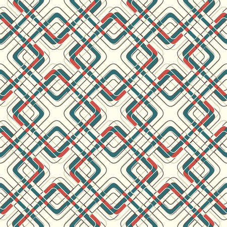 weaving squares in seamless pattern Vector