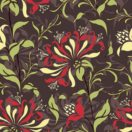 sepal: bright flowers on brown background