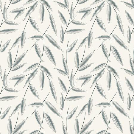 feuilles de bambou dans le style d'encre