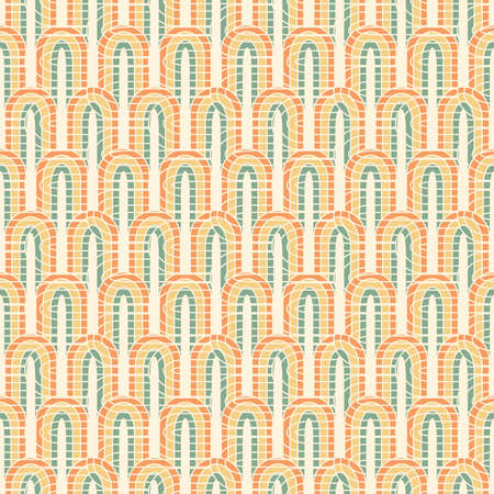 cut off elipses in seamless pattern Vector