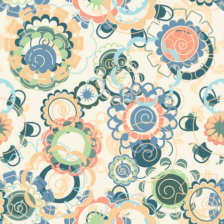 pastel flowers in babys style pattern Vector