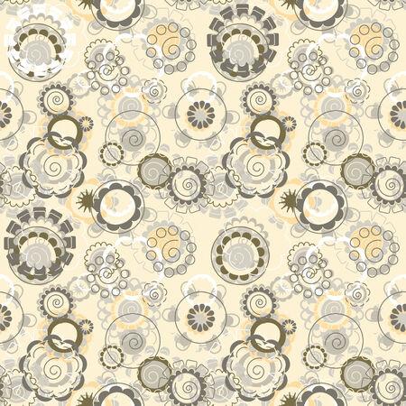 pastel flowers in babys style pattern
