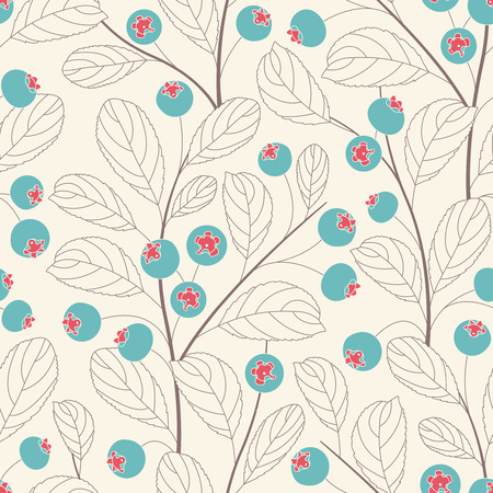 whortleberry: whortleberries on a white background in seamless pattern