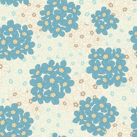 sepals: flowers on a yellow background in seamless pattern