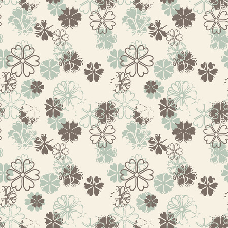 sepal: cartoon flowers on a white background in seamless pattern