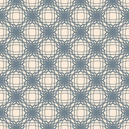 weave: abstract lattice on a beige background in seamless pattern Illustration