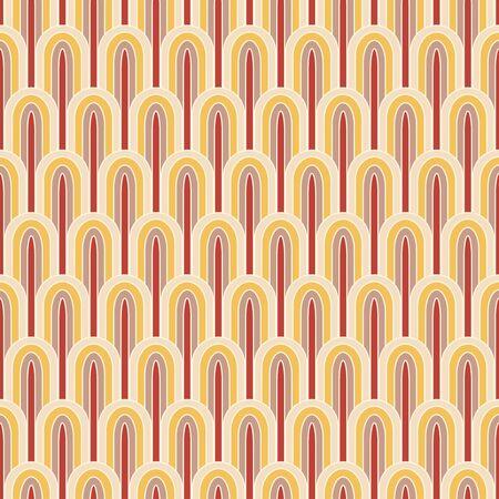 ellipses: retro striped ellipses in seamless pattern