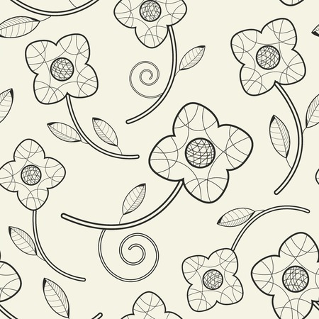 sepals: flowers on a white background in seamless pattern