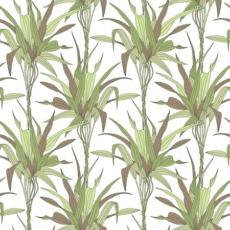 leaves on a white background in seamless pattern