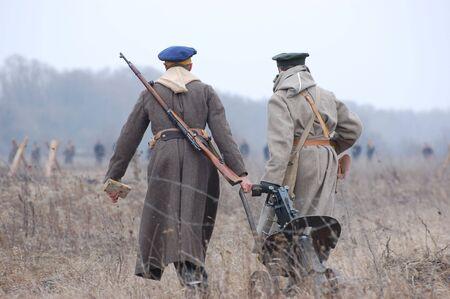 reenacting russian Civil War 1918 photo