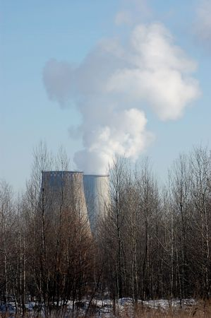 Air pollution.Power plant Stock Photo - 2546508