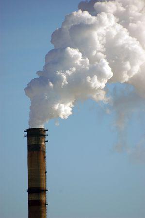 Air pollution.Power plant photo