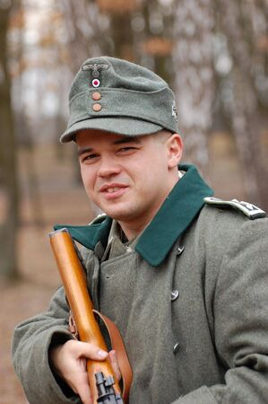 reenacting: Soldato tedesco della Seconda Guerra Mondiale. Reenacting