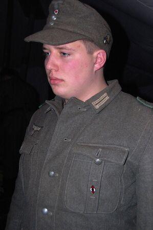 German WWII soldier. Reenacting photo