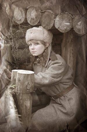 Girl of war.WWII reenacting