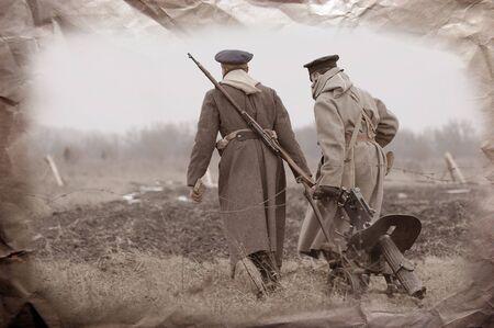 reenacting: La prima guerra mondiale reenacting Archivio Fotografico