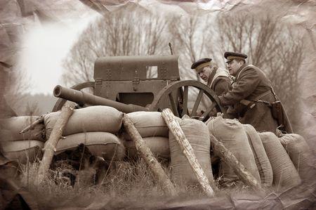 WWI reenacting photo
