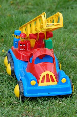 Firetruck. Toy photo