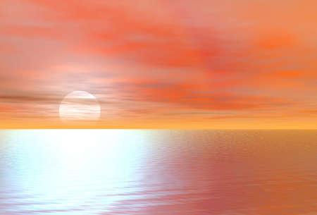 Sunset. Background Stock Photo - 2950474