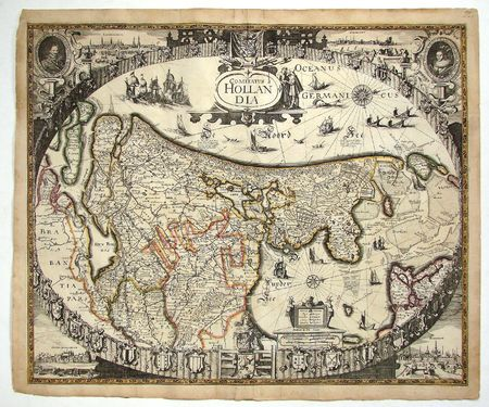 Antique map of Holland 写真素材