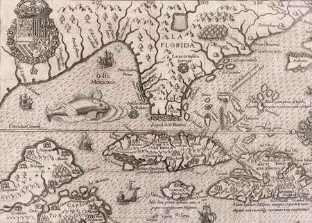 Antique Map of Florida  Lizenzfreie Bilder