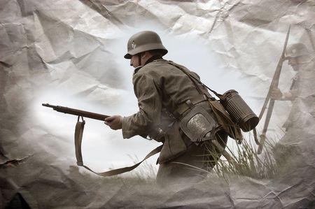 reenacting: German soldier. WW2 reenacting