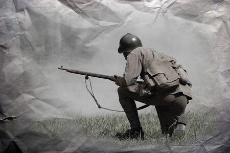 reenacting: Armata Rossa. WW2 reenacting Archivio Fotografico