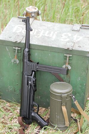 German ammunition. WW2 time photo