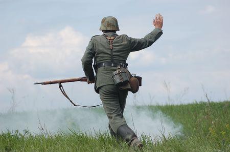 reenacting: Soldato tedesco. WW2 reenacting
