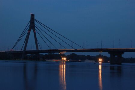 dnepr: Moscow bridge across Dnepr river. Kiev,Ukraine
