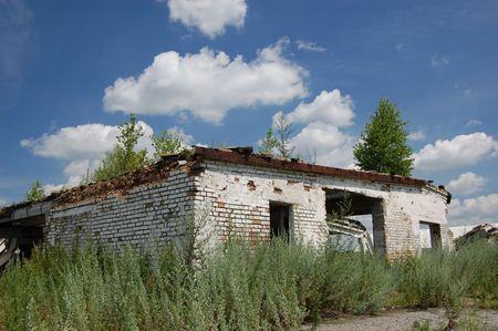 Abandoned farm. Near Chernobyl area.  Kiev region, Ukraine Stock Photo - 3274113