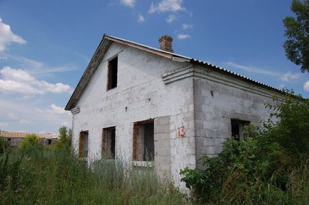 Abandoned farm. Near Chernobyl area.  Kiev region, Ukraine photo