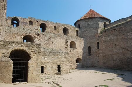 Medieval citadel near Odessa, Ukraine, Belgorod Dnestrovsky. Odessa region Stock Photo - 3499221