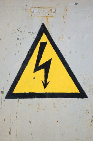 High voltage sign Stock Photo - 4152914