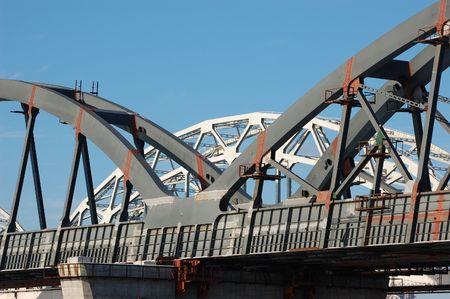 dnepr: Railway bridge across Dnepr river. Kiev,Ukraine