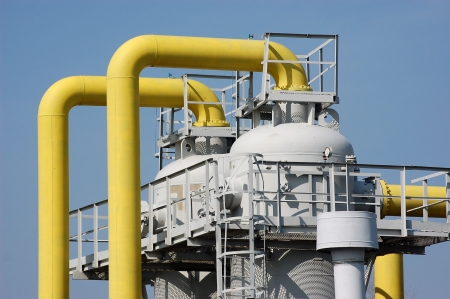 ukraine: Natural gas pump station. Kiev,Ukraine Stock Photo