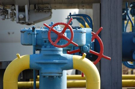 kiev: Natural gas pump station. Kiev,Ukraine Stock Photo