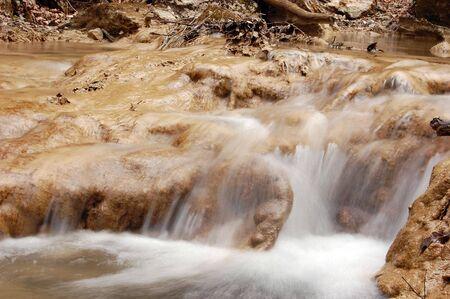 Landscape with waterfall. Crimea,Ukraine photo