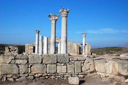 crimea: Ruins of ancient Greek colony Khersones. Sevastopol. Crimea