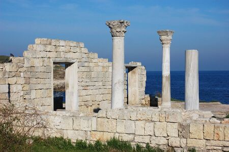 Ruins of ancient Greek colony Khersones. Sevastopol. Crimea photo