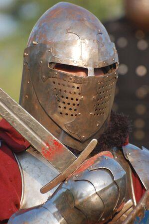 medieval swords: Guerrero  Foto de archivo