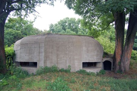 Underground citadel.Part of Kiev defense line in WW2 time. photo