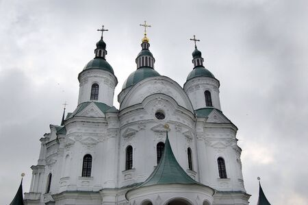 Old Russian orthodox cathedral in historical Russian town Kozelets,Chernigov region,Ukraine  photo