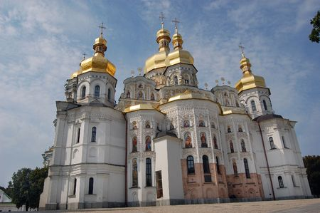kiev:  Kiev-Pechersk Lavra monastery in Kiev. Ukraine (Malorussia)  Stock Photo