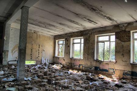 Lost city.Near Chernobyl area.Kiev region,Ukraine.HDR  Stock Photo - 7504360