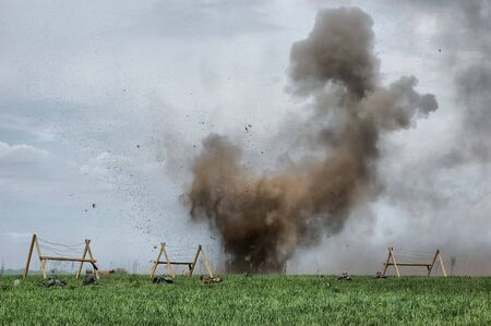 Explosion. WW2 reenacting. Kiev,Ukraine Stock Photo - 7504920